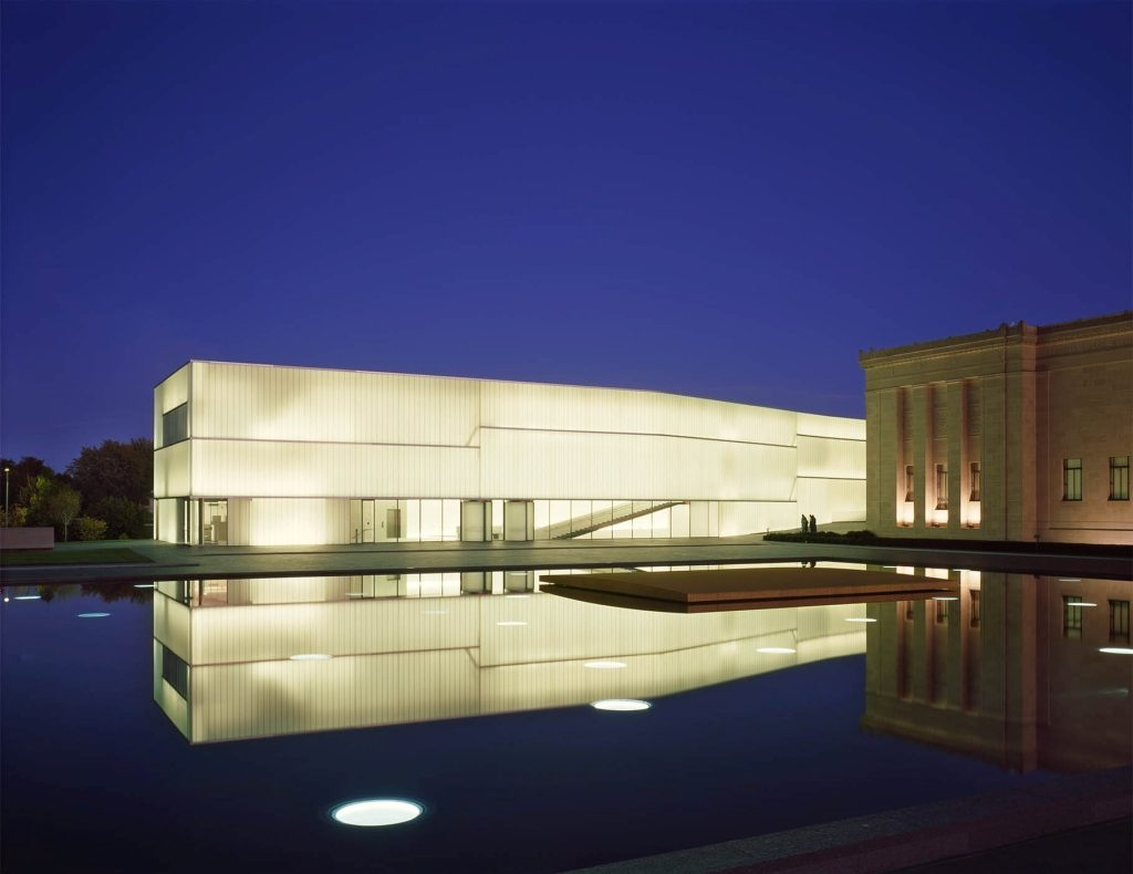 Atkins Museum Steven Holl Architects - dyle szklane